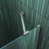 stabilisatie stang van douchecabine met draaideur en vaste zijwand