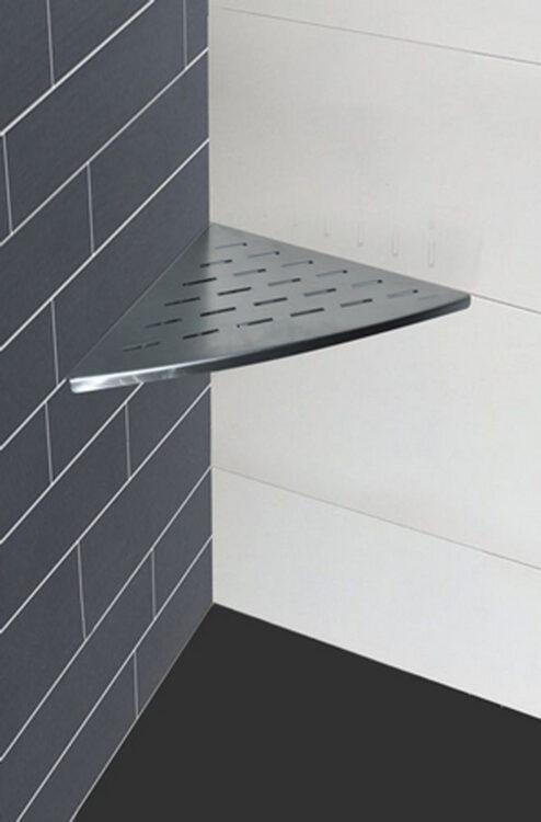 Inwall hoek planchet 29 x 29 cm RVS
