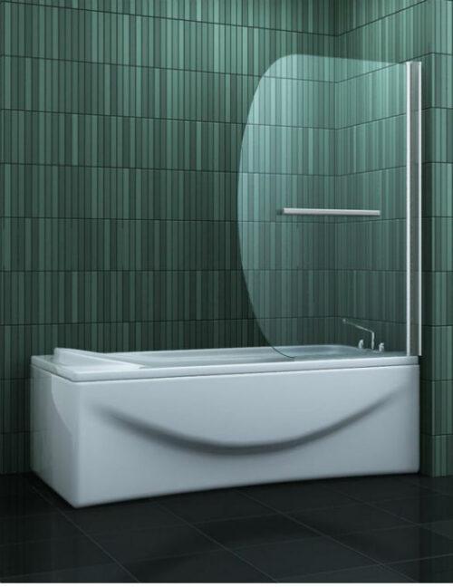 Douche Design badwand 90 x 140 cm met handdoekdrager