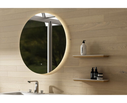 Ronde LED-badkamer spiegel