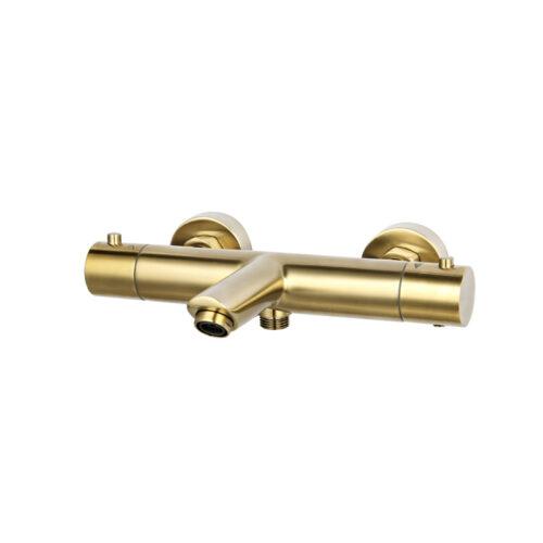 thermostatische badmengkraan goud