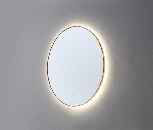 LED Spiegel Rond Geborsteld Goud