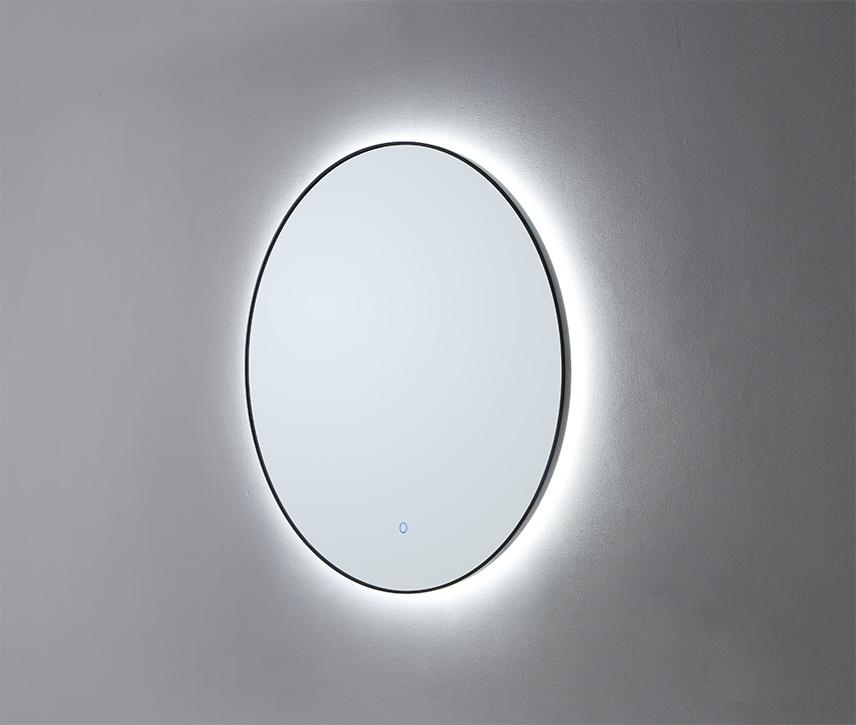 LED Spiegel Mat Zwart